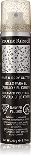 Jerome Russell Hair and Body Glitter Spray, Silver, 2.2 Fluid Ounce