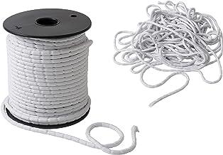 IPEA Lood vlechtwerk - 10 meter - lood koord voor gordijnen, stof - verschillende grammages - gewicht - kleur wit - 50 g/m