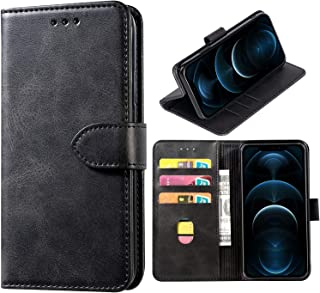 DMDMBATH iPhone 12 Case Wallet iPhone 12 Pro Wallet Case Shockproof Flip Flap Foldable Magnetic Clasp Protective Cover cas...