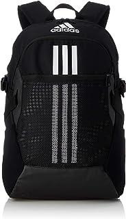 Adidas Tiro Urban Front Logo Zip-up Unisex Backpack - Black and White