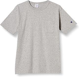[チャンピオン] T1011 半袖Tシャツ ポケット付き ワンポイントロゴ C5-B303 メンズ