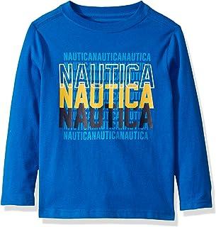 Nautica boys Long Sleeve Graphic Print Tee Shirt
