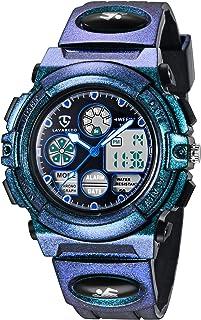 Reloj Niño,Reloj Digital para Niños, Deportivos LED 5ATM Impermeable Alarma Calendario Multifunción Cronógrafo Reloj De Pu...