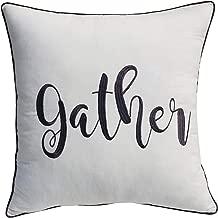 YugTex Pillowcases Gather Pillow,Thanksgiving Pillow case Cover,Farmhouse Pillow, Word Pillow, Housewarming Gift, Throw Pillow Thanksgiving Decorations, Gather Pillow Cover, (Gather(Ivory), 18X18)