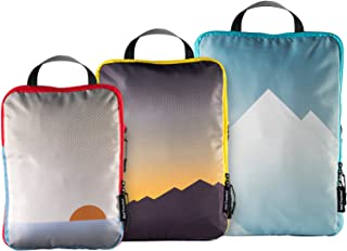 Well Traveled Compression Packing Cubes for Travel - Travel Organizer Pouches for Travel Accessories