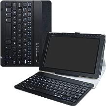 ASUS ZenPad 10 Wireless Keyboard Case,LiuShan Detachable Wireless Keyboard Standing PU Leather Cover for ASUS ZenPad Z300C / Z300M / Z301M / Z301ML / Z301MFL 10.1-Inch Android Tablet,Black