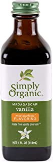Simply Organic Non-Alcoholic Vanilla Flavoring, Madagascar | Certified Organic | Gluten Free | Kosher Certified | 4-Ounce Glass Bottle