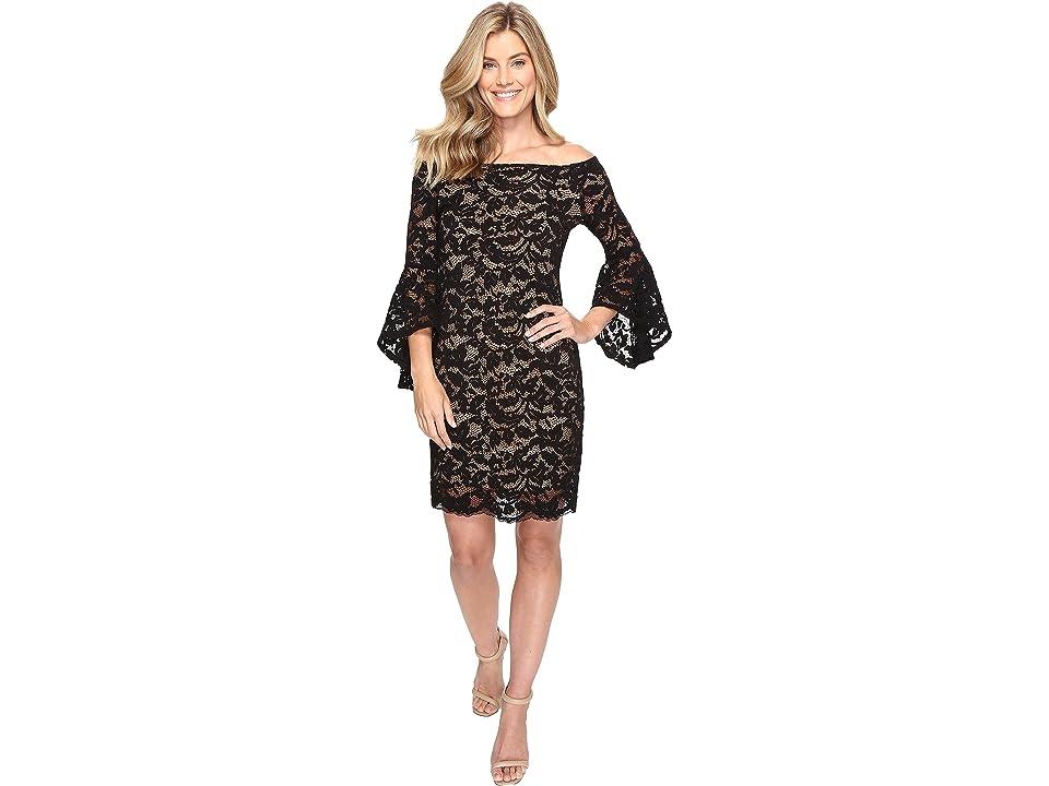 Karen Kane Samantha Lace Dress (Black/Nude) Women