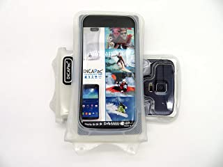 DiCAPac WP-C1 [Universal Waterproof Case] for Archos 40 Cesium / 50 Diamond / 50 Neon | IPX8 Certified Underwater Protection (White)