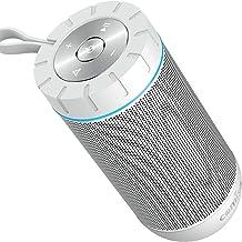 Altavoz Bluetooth Portatil, COMISO Ture Wireless Estereo 12W Subwoofer Inalambrico Portatil con Radiador Pasivo, Altavoz Bluetooth Impermeable con 20 Horas de Emision Continua (Blanco)