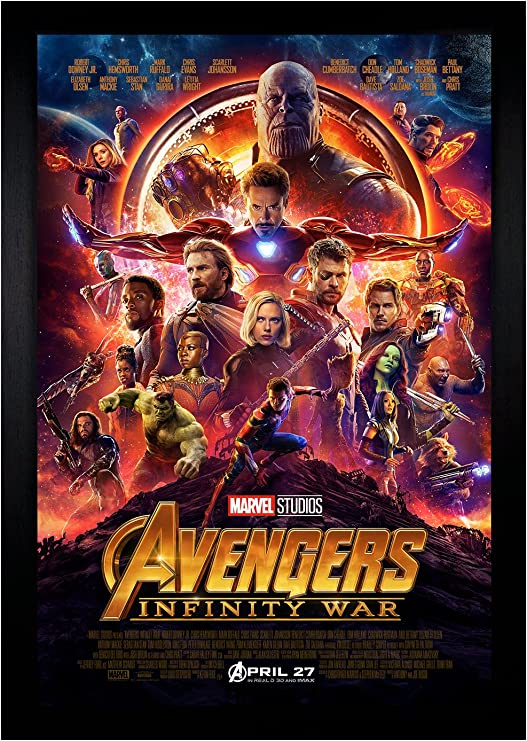 Amazon Com Avengers Infinity War Movie Poster 24 X36 Framed Poster C2 1180 Posters Prints