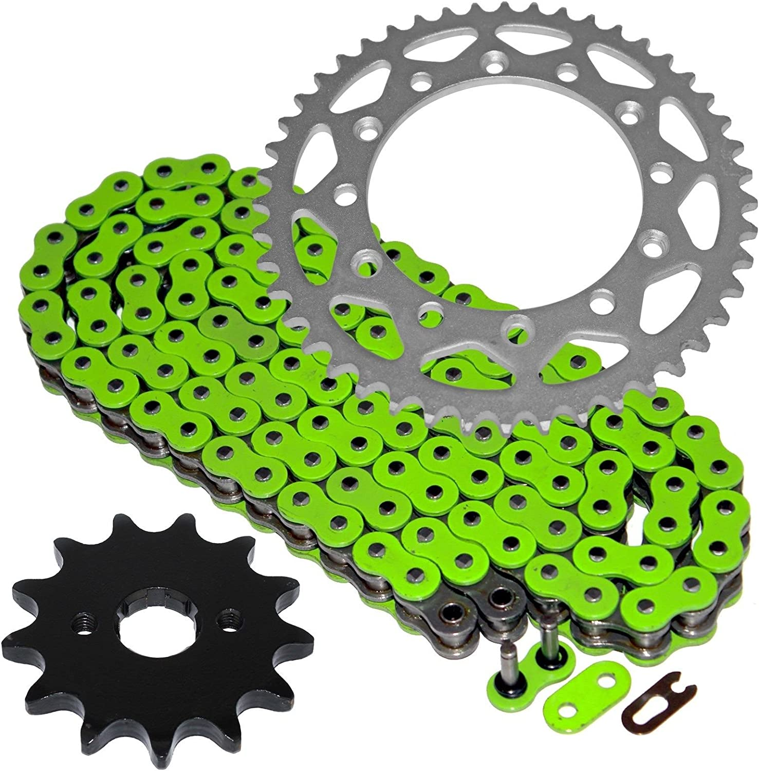 Caltric Green O-Ring Drive Chain W 2021 Sprockets Rear Front Comp Import Kit