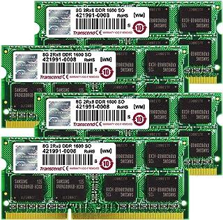 Transcend 32GB (8GB x 4 Kit) JetMemory DDR3-1600 SO-DIMM 2Rx8 iMAC Mid 2011 - Late 2012 (TS32GJMA524H)