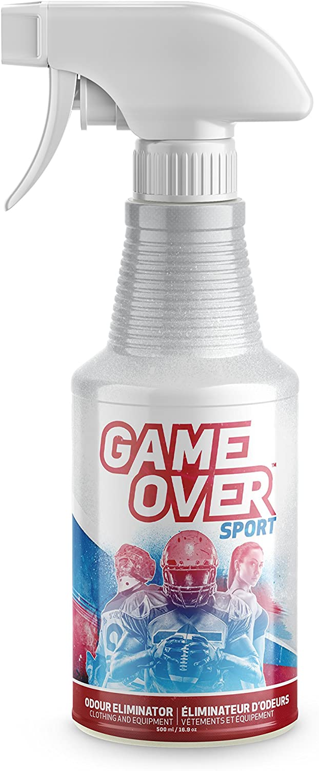 Biotech Odor Eliminator Spray - 500 ml - for Smelly Feet, Shoes, Clothes, Sport Equipment and Carpets by Game Over Sport