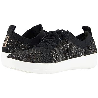 FitFlop F-Sporty Uberknit Sneakers (Black/Metallic Bronze) Women