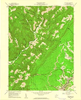 YellowMaps Lead Mine WV topo map, 1:24000 Scale, 7.5 X 7.5 Minute, Historical, 1959, Updated 1961, 26.9 x 22.1 in