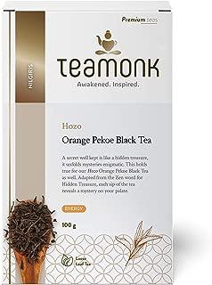 Teamonk Hozo Nilgiri Orange Black Tea Loose Leaf (50 Cups) | Energy Boosting Tea | Natural Orange Tea | Fruit Tea | Pure Loose Leaf Tea | No Additives - 3.5oz