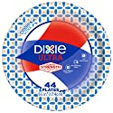 "Dixie Ultra Small Paper Plates, 6 7/8"", 44 Count, Dessert Size Printed Disposable Plates"