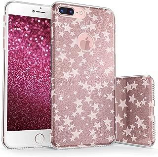 真正的彩色手机壳适用于 iPhone 8 & Plus Sparkase Collection v3 For iPhone 8 Plus Floating Stars - White on Rose Gold