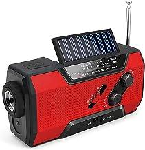 خورشیدی قابل شارژ خورشیدی خورشیدی خورشیدی AM / FM / NOAA / رادیو هوا با چراغ قوه ، پاوربانک 2000 میلی آمپر ساعتی ، زنگ هشدار SOS ، چراغ مطالعه ، شارژر تلفن برای طوفان های Tornadoes و طوفان ها