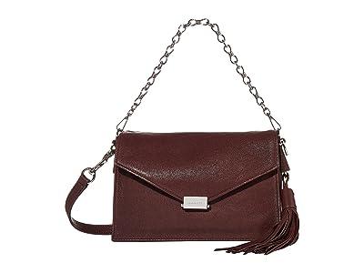AllSaints Miki Crossbody (Bordeaux) Handbags