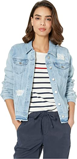 Statement Denim Stripe Patch Jacket