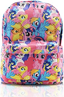 Finex My Little Pony Pink Canvas Casual Daypack with 15 in Laptop Storage Compartment