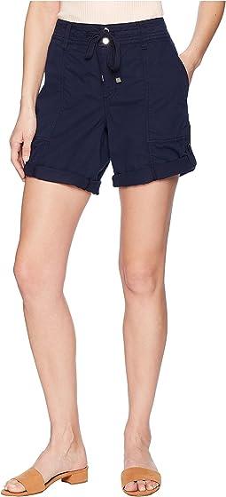 Cotton Twill Drawstring Shorts