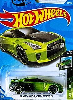 Hot Wheels 17 Nissan GT-R (R35) Guaczilla 61/250 Speed Blur 7/10