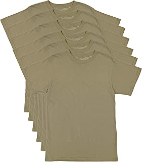6 Pack - AR 670-1 Army Compliant Coyote Brown Mens Military T-Shirt Poly Cotton Multicam OCP Scorpion Uniform Approved