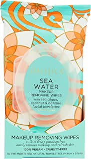Pacifica Beauty Sea Water Makeup Removing Wipes, 30 Count
