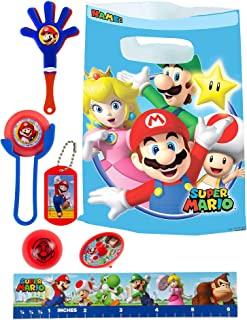 Party City Super Mario Basic Favor Supplies for 8 Guests, Include Plastic Favor Bags and a Complete Party Favor Pack