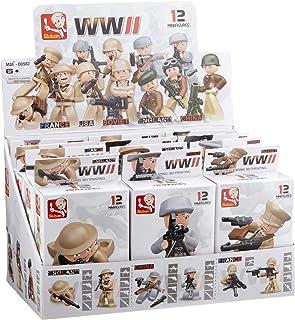 لعبة الجنود الحرب العالمية الثانية من سلوبان، من 12 قطعة متنوعة