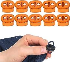 Ronde koordstopper met 2 gat, 22 x 20 mm, 5 x 5 mm gat, Ideaal voor Ø 4 mm koorden, 10 stuks, Rubber Koordklem, Tanka voor...