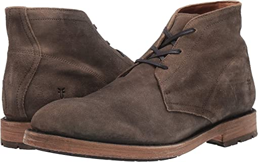 Faded Fatigue Distressed Suede
