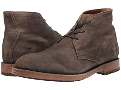 Frye Bowery Chukka (Faded Fatigue Distressed Suede) Men
