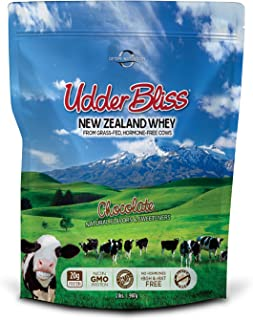 Optim Nutrition Grass Fed, Hormone-Free Udder Bliss Whey Protein Powder, Chocolate (2 Pounds)