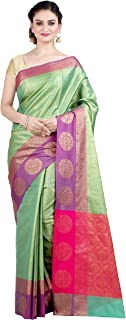 Chandrakala Women's Kataan Silk Blend Indian Ethnic Banarasi Saree with Unstitched Blousepiece(1293)