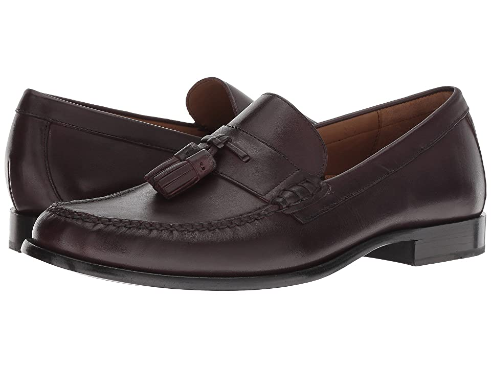 Cole Haan Pinch Handsewn Tassel Loafer (Burgundy Handstain/Black) Men