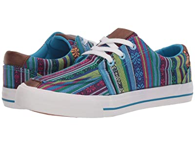 Roper Angel Fire (Multi Blue Aztec Canvas) Women