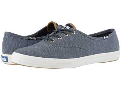 Keds Champion Ticking Canvas (Navy Ticking Canvas) Women