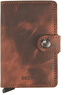 Secrid Men Mini Wallet Genuine Leather Vintage black RFID Safe Card Case max 12 cards
