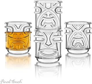 Final Touch Clear 4 Piece Tiki Tumbler Glass Set