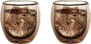 Levivo dubbelväggigt jumbo termoglas 400 ml, idealisk som kaffeglas eller teglas, munblåst termoglas, värmebeständig, hand...