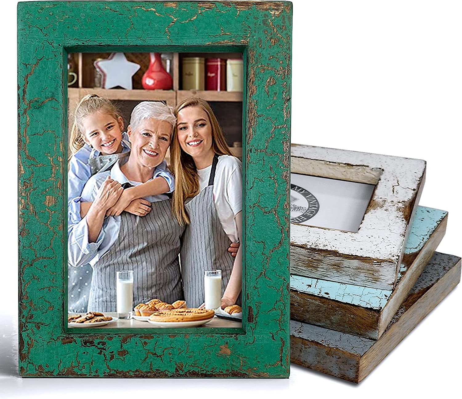 Rustic Farmhouse Picture Frame 5x7 (Green)