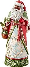 Enesco Jim Shore Heartwood Creek Santa with Winter Scene Figurine, 10.24 Inch, Multicolor