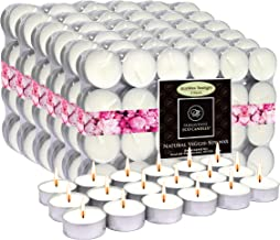 EcoAroma Coco-Soy Candles, 144-Pack Alum Cup Unscented Tealight Candles 5 Hour Extended Burn Time, Organic Candles Non Par...