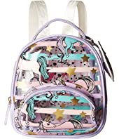 Luv Betsey Sage Clear Mini Donut Cat Print Backpack