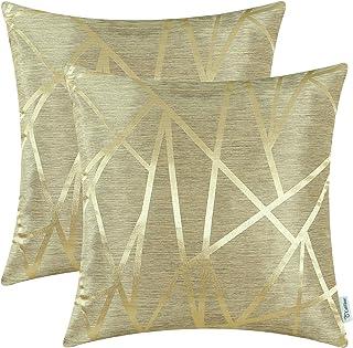 CaliTime - Juego de 2 fundas de almohada para sofá, de