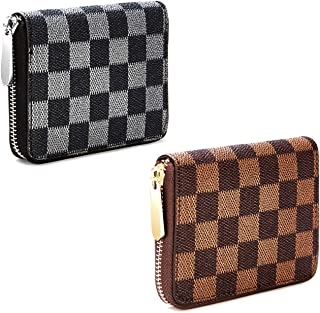 Best white and grey checkered purse Reviews
